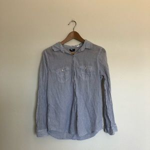 Urban Outfitters BDG Striped Blue White Shirt